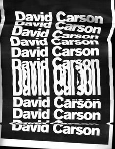 David Carson - Master Classes Grafika on Behance David Carson Design, Typography Poster, Graphic Design Typography, Graphic Art, Typography Inspiration, Graphic Design Inspiration, Distorted Text, Identity, Protest Posters