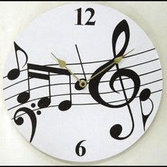The Music Depot NEW! Music Notes Wall Clock - NEW! Music Not ...