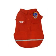 Royal Animals Fdny Woven Dog Shirt, Red