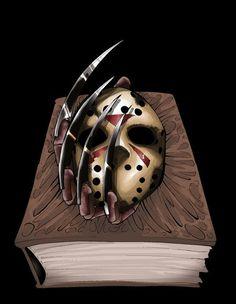 Jason VS- Cover 1 by blackangelofmine on DeviantArt Slasher Movies, Horror Movie Characters, Horror Icons, Horror Films, Arte Horror, Horror Art, Freddy Horror, Horror House, Jason Voorhees