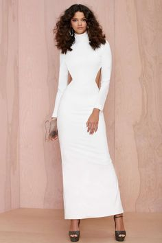 Solace London Bougie Cutout Dress - White | Shop Solace London at Nasty Gal