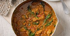 A classic lamb and spinach Indian curry – this would make a great, economical, and much tastier, alternative to a Friday night take away. Serve with rice or naan.
