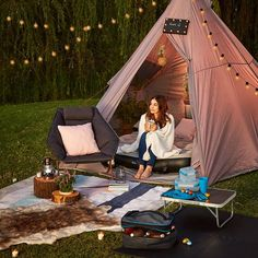 Glamping waterproof tent from Kmart