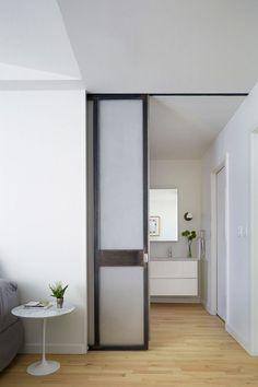 Interior Design Ideas - 5 Alternative Door Designs For Your Doorways // Pocket Doors Bedroom Door Design, Door Design Interior, Interior Barn Doors, Interior Decorating, Decorating Ideas, Door Alternatives, Slider Door, Sliding Pocket Doors, Bathroom Doors