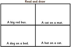 Letters and Sounds - Read and draw x6