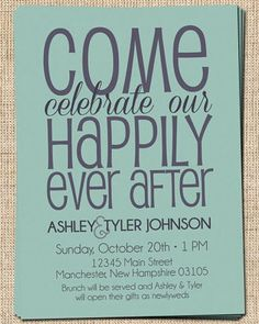 wedding shower after wedding invitations - Google Search