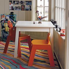 Kids Play Table: Kids White Corner Play Table in Back to School Sale | The Land of Nod