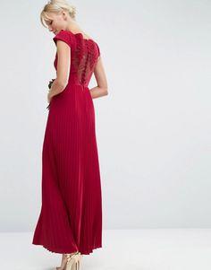 ASOS   ASOS WEDDING Lace and Pleat Maxi Dress