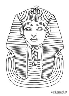egyptian party printable ancient egypt coloring pages for kids - Ancient Egypt Mummy Coloring Pages