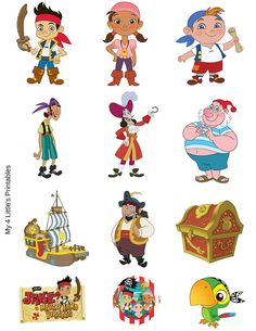 Jake and the Neverland Pirates Printables. by My4LittlesPrintables