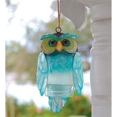 Recycled Bottle Owl in Owls