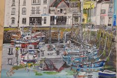 Mavagissey sunday {harbour} by john gould - Paint a seascape or harbour scene to win copies of David Bellamy books from Search Press John Gould, Painting Competition, Seascape Paintings, Sunday, David, Scene, Search, Gallery, Artist