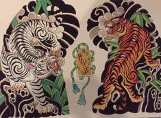 Japanese Tiger Tattoo, Japanese Tattoo Designs, Japanese Sleeve Tattoos, Tiger Tattoo Sleeve, Tattoo Sleeve Designs, Tattoo Ink, Arm Tattoo, Hand Tattoos, Tattoo Perna