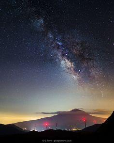 Etna e la Via Lattea agosto 2016