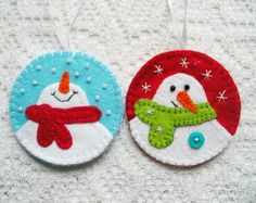 Gingerbread Man Bookmark Felt ornament christmas by feltgofen