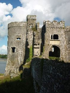 Carew Castle - across wall