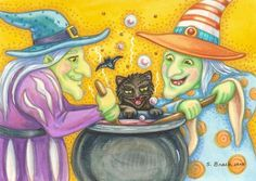 Art 'WITCH'S BREW' - by Susan Brack from HALLOWEEN/Illustration