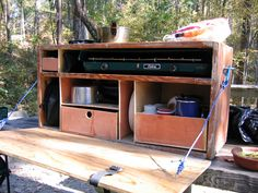 homemade- Camp Kitchen and trailer - HighTechCoonass Photos