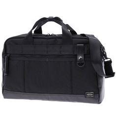 Porter Heat 2 Way Boston Bag. Ref : 703-06963. Size: W410/H270/D150. Color : Black. Main Fabric: Ballistic Nylon Canvas ( Nylon 100 %). Bottom of the bag : Tarpouline Lining Fabric: Nylon Canvas ( Nylon 100% ). Additional: Each bag comes with a porter orifinal Maglight as a zip puller.