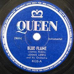 Old Records, Vintage Records, Rhythm And Blues, Jazz Blues, Gramophone Record, Label Design, Graphic Design, Blue Flames, Record Collection