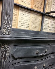 Chalk Paint® by Annie Sloan.  So easy.  Graphite then Old Ochre Wax (50/50 Old Ochre/Clear Wax)