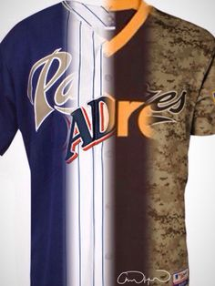 95d4c1376 All the old San Diego Padres Jerseys combined into one. How cool.  sandiego