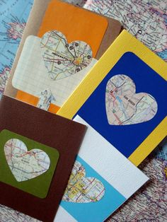 Custom City Map Heart Greeting Card / by ComfortablyLovely on Etsy, $3.25