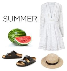 """""""SUMMER"""" by maikeirving on Polyvore featuring Birkenstock and Zimmermann"""