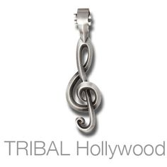 TREBLE CLEF Music Note Necklace Pendant by BICO Australia