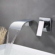 107 49 Bathroom Sink Faucet Wall Mount Waterfall Chrome Wall Mounted Single Handle Two Holesbath Taps Brass Bathroom Sink Faucets Sink Faucets Faucet