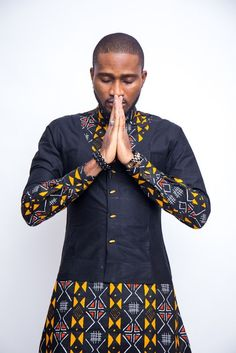 Ankara Button Down Shirt/ Mens Clothing/ Prom Men/ African Print Clothing/ Wedding guest outfit/ African Groom/ Grooms men Clothing/ Dashiki African Shirts For Men, African Dresses Men, African Attire For Men, African Wear, African Style, African Women, Nigerian Men Fashion, African Print Fashion, Africa Fashion