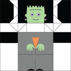 Printable Frankenstein Origami Doll 2