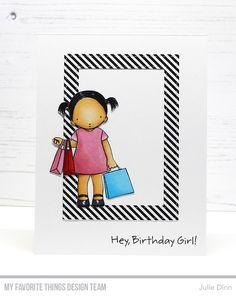 Birthday Girl, Stitched Rectangle Frames Die-namics — Julie Dinn #mftstamps