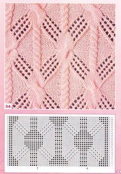 nice beautiful knitting stitch pattern lace aran красивые узоры на спицах click to large ... like the cable