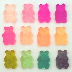 All of the colors in the rainbow in a tiny gummy package! Gummy Bears are one of our most popular toppings; whether you're a kid or just a kid at heart, Gummy Bears pack your fro-yo with fun! Creative Studio, Color Patterns, Color Schemes, Color Combos, Sweet Party, Things Organized Neatly, Doja Cat, Kawaii, Gummy Bears