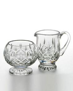 Waterford Crystal Footed Cream & Sugar Set $180 - FREE S & H - COMPARE ELSEWHERE AT $210 - Shop SARTO'S - SartosHome.Com