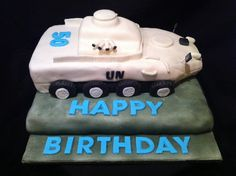 United Nations MOWAG cake on biscuit cake base