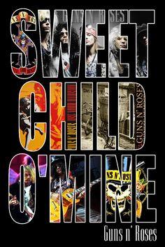 Guns n Roses Sweet Child o Mine Poster rare Unique.