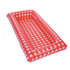 Red Gingham Inflatable Buffet - OrientalTrading.com