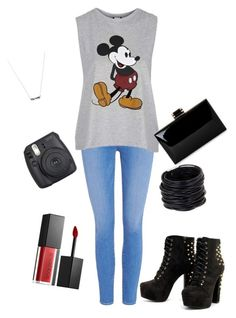 """Untitled #565"" by barbie-stardolls on Polyvore featuring Paige Denim, Topshop, Smashbox, Saachi and SPAM"