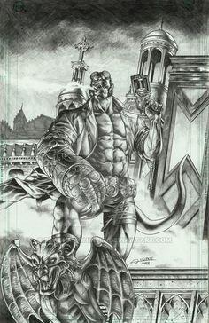 Hellboy by Gilbert Vigonte Hellboy 1, Comic Book Covers, Comic Books, Mike Mignola, Manga Comics, Art Studies, Vertigo, Dark Horse, Predator