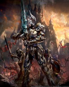 Mobius FF Paladin by yuchenghong Final Fantasy fighter knight sword castle battle armor clothes clothing fashion player character npc | Create your own roleplaying game material w/ RPG Bard: www.rpgbard.com | Writing inspiration for Dungeons and Dragons DND D&D Pathfinder PFRPG Warhammer 40k Star Wars Shadowrun Call of Cthulhu Lord of the Rings LoTR + d20 fantasy science fiction scifi horror design | Not Trusty Sword art: click artwork for source