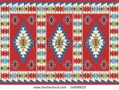 Traditional Ottoman Turkish Carpet Design