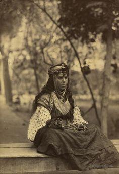 Algeria. 1860-1900.   //   Biskra woman. Biskra, Algeria. 1860-1900.