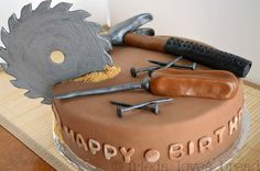 What a fun cake for the right birthday or for Father's Day!