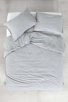 4040 Locust Speckled Jersey Duvet Cover - Urban Outfitters