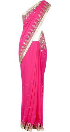 Classic pink GP sari - Anita Dongre