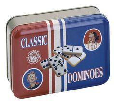 Dominoes in Classic Tin