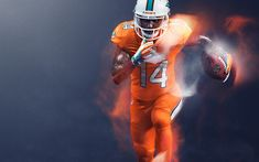 93c759938d1 Download wallpapers Jarvis Landry, Miami Dolphins, National Football  League, American Football, 4K, NFL, USA. Nfl Color Rush UniformsColor ...