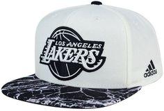 6ce09aca297 adidas Los Angeles Lakers White Marble Snapback Cap